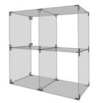 Glaswürfelsystem mit 4 Fächern