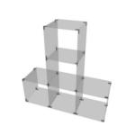 Glaswürfelsystem mit 5 Fächern