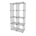 Glaswürfelsystem mit 8 Fächern