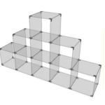 Glaswürfelsystem mit 9 Fächern