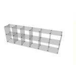 Glaswürfelsystem mit 12 Fächern