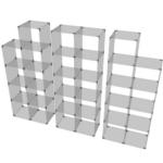 Glaswürfelsystem ab 15 Fächern