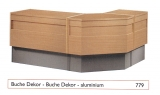 Standard-Thekenanlage, Buche / Aluminium