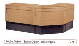 Standard-Thekenanlage, Buche / schiefergrau