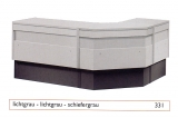 Standard-Thekenanlage lichtgrau / schiefergrau