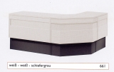 Standard-Thekenanlage weiß / schiefergrau
