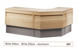 Standard-Thekenanlage Birke / Aluminium
