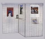3-teilige Gitterwand, chrom