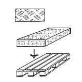 Gitter-Doppelhaken, Tiefe: 200 mm