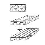 Gitter-Doppelhaken, Tiefe: 150 mm