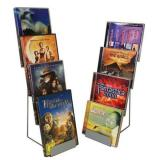 DVD / CD - Thekenständer mit 4 Fächern