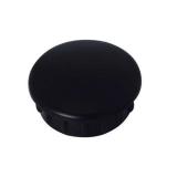 25 mm Rohrstopfen in schwarz