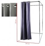 Vorhang mit Rundösen für Umkleidekabine, grau