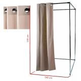 Vorhang mit Rundösen für Umkleidekabine, beige