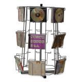 DVD / CD - Theken-Drehständer mit 18 Fächern