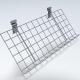Gitterablage schräg, chrom - 60 x 30 cm, 3 cm Rand