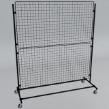 rollbarer Gitterständer 160 x 180 cm schwarz