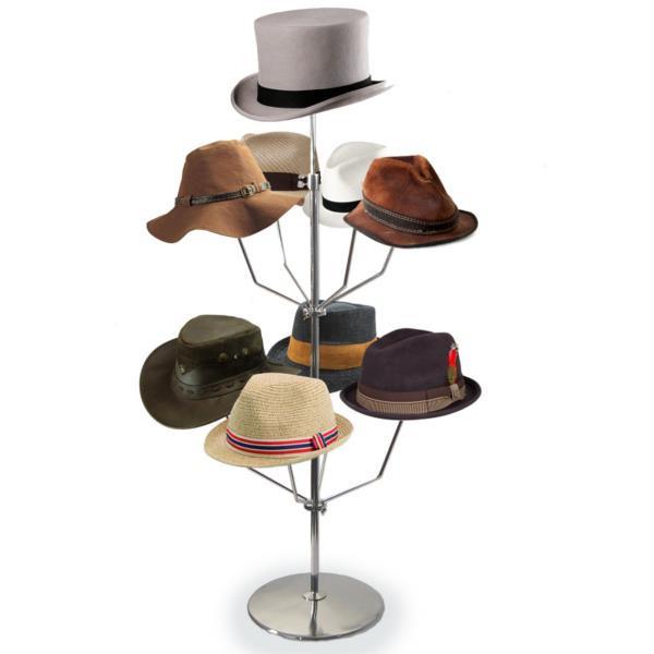 Theken-Hutständer für 9 Hüte