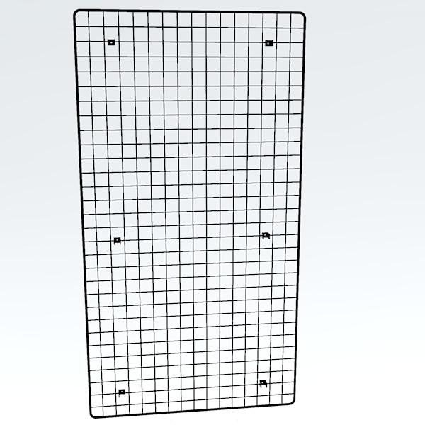 Wandgitter chrom 150 x 80 cm