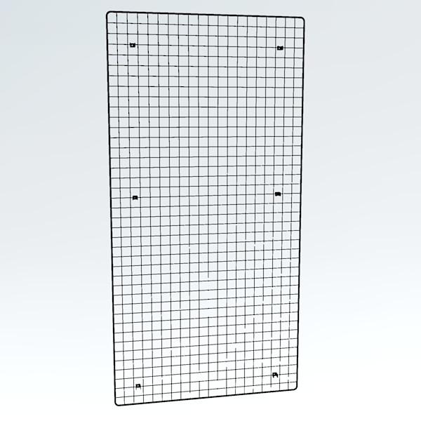 Wandgitter chrom 200 x 100