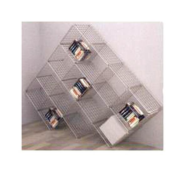 Gitterwürfelwand mit 13 Fächern, 37 x 37 cm