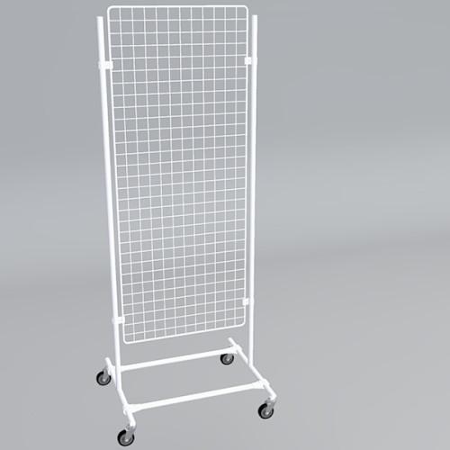 Gitterwand auf Rollen 150 x 60 cm weiß