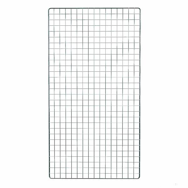 Dekogitter 150 x 80 cm in silber