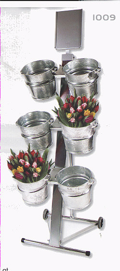 Schnittblumen-Verkaufsdisplay, fahrbar