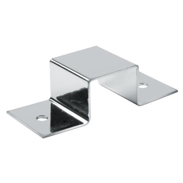 25x25 Vierkant Plattenträger für Holz, chrom, doppelt