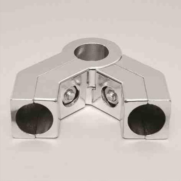 Boxverbinder 4-weg, Ø 25 mm, einstellbar