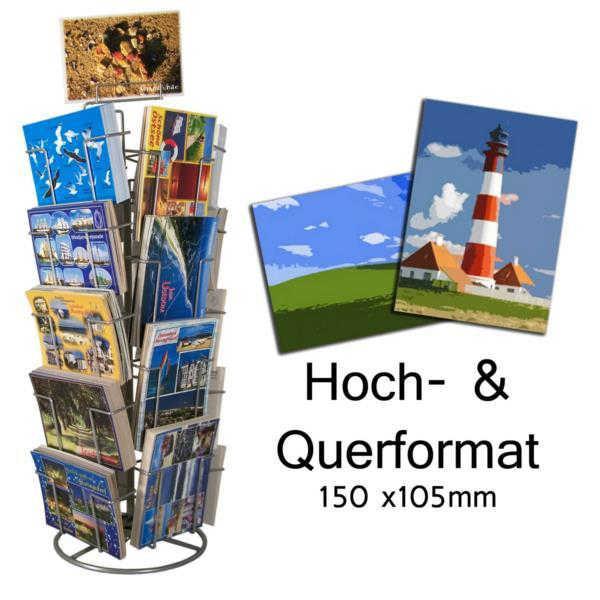 Postkarten-Thekenständer, 18 Fächer