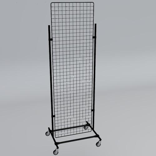 Gitterwand auf Rollen 200 x 60 cm schwarz