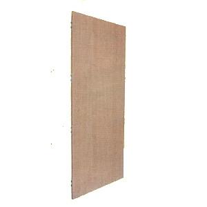 1 Holzwand weiß für freistehende Umkleidekabine aus Rundrohrsystem