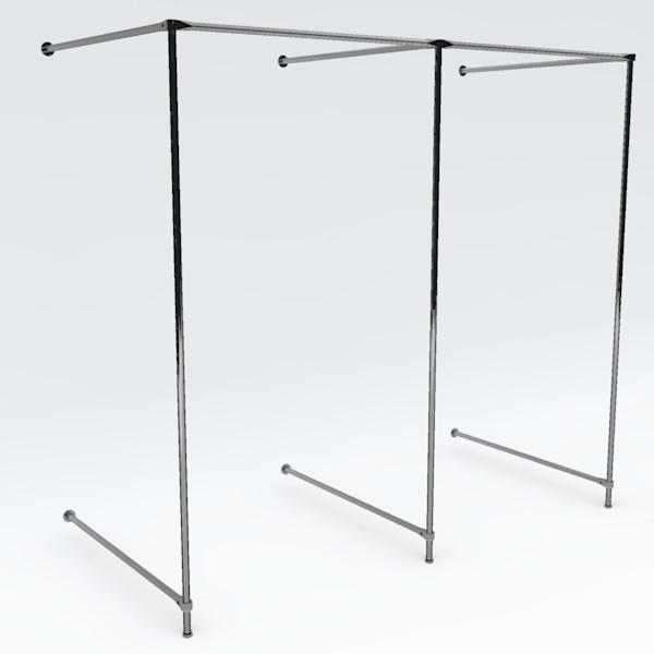 Wand-Umkleidekabine doppelt, Breite: ca. 200 cm