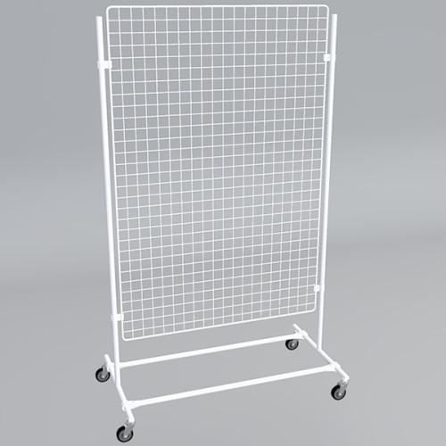 Gitterwand auf Rollen 150 x 100 cm weiß