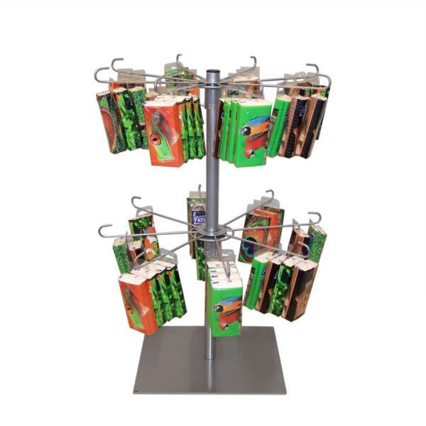 Theken- / Tischständer mit 2 Kränzen
