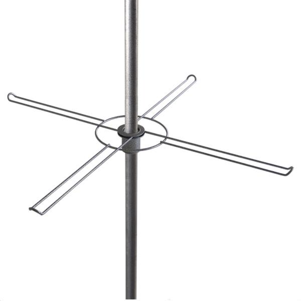 Hakenkranz, Ø 70 cm, mit 4 Doppelhaken, leichte Ausführung