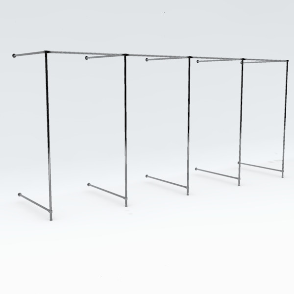 Wand-Umkleidekabine vierfach, Breite: ca. 400 cm