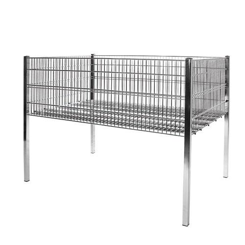 Gitter-Wühltisch, 120 x 80 cm, mit Rollen