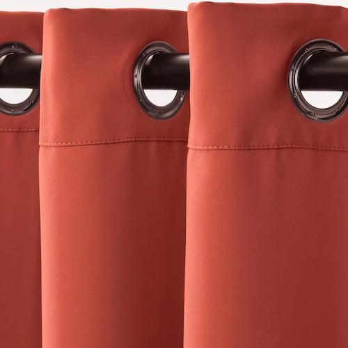 Vorhang mit Rundösen für Umkleidekabine, rotbraun 1 Stck.