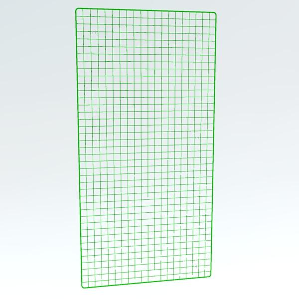 Wandgitter RAL 6018 in grün 200 x 100 cm / Preis auf Anfrage