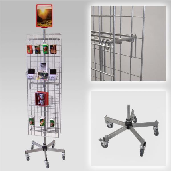 2 Seiten-Gitterständer, fahrbar