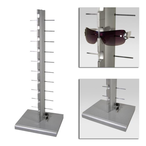 Brillen-Tischständer für 10 Brillen, mit Schloss
