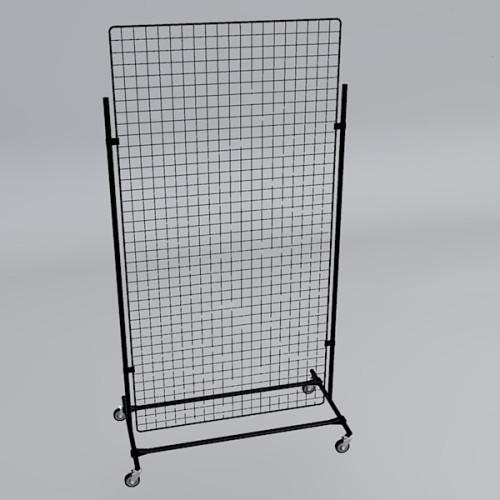 Gitterwand auf Rollen 200 x 100 cm schwarz
