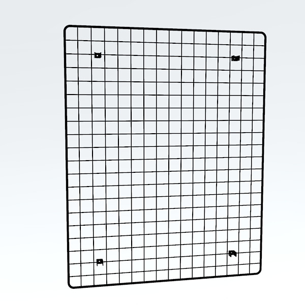 Wandgitter chrom 100 x 80 cm