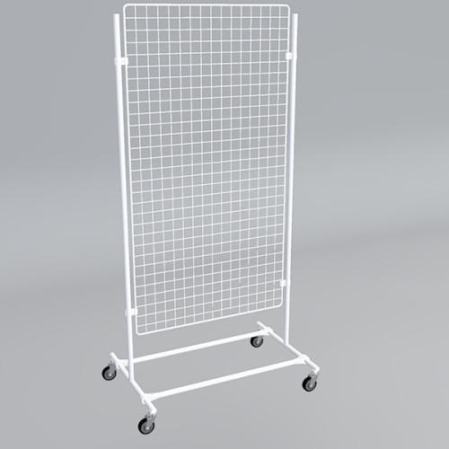 Gitterwand auf Rollen 150 x 80 cm weiß