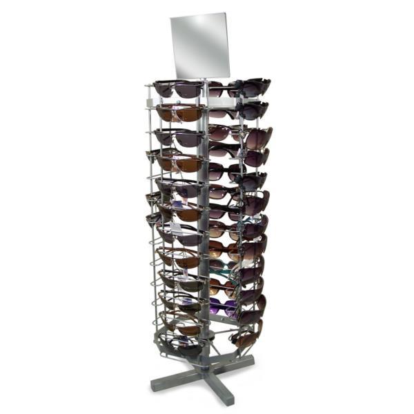 Brillen-Tischständer für 52 Brillen, drehbar