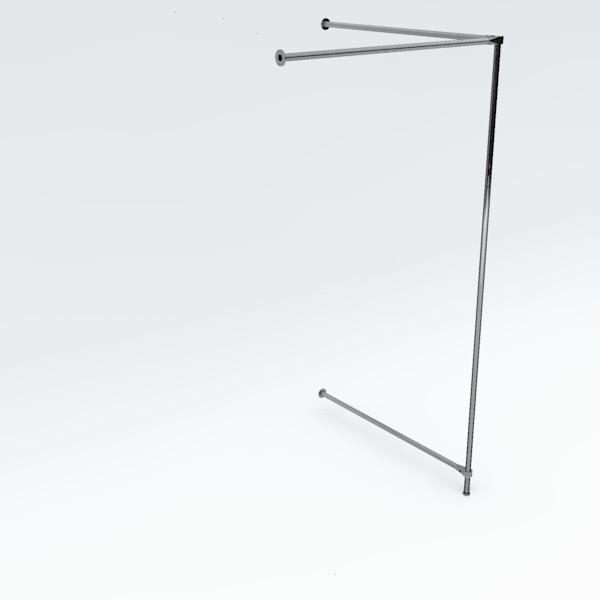 Eck-Umkleidekabine einfach, Breite: ca. 100 cm