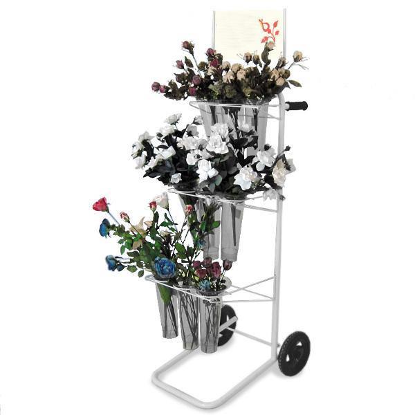 Blumenwagen mit großen Rädern