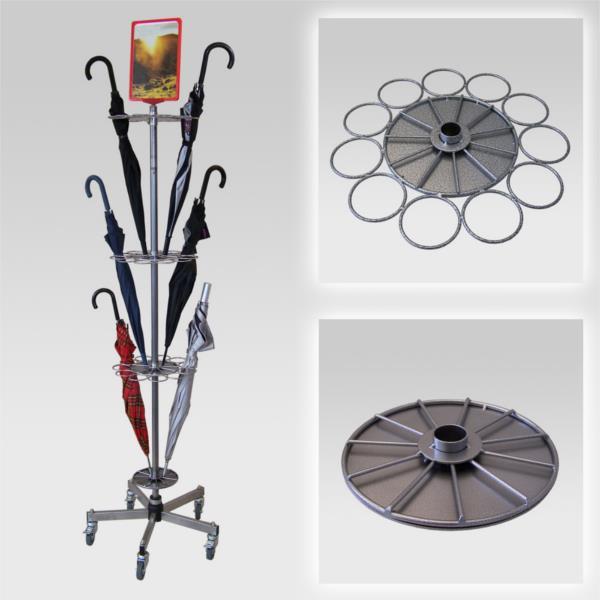 Schirmständer für 33 Regenschirme